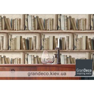 На фото обои книги